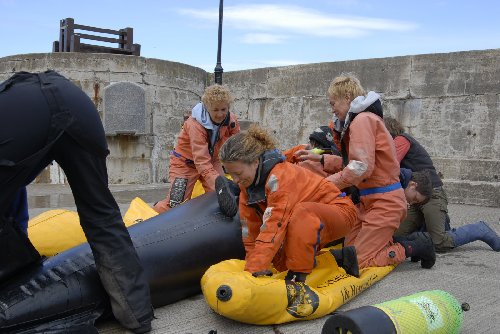 Practical rescue training courses are held every 2 weeks in Gardenstown between May and October.