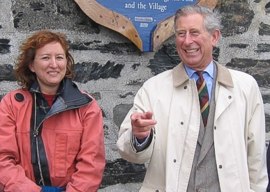On our best behaviour during a visit by Prince Charles