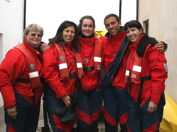 Some of the members of Team IV, briefed, equipped and ready for sea?