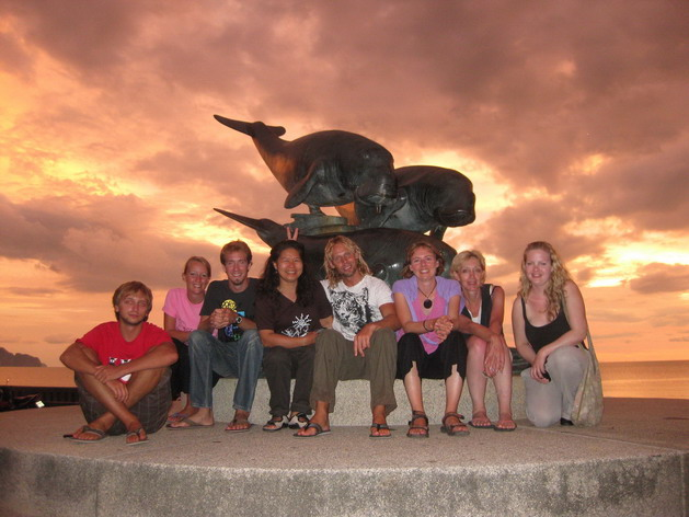 The first ever volunteer team on the Pink Dolphin Project
