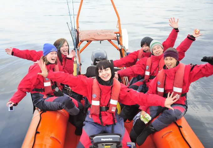 Team II on the water - smiles all round!