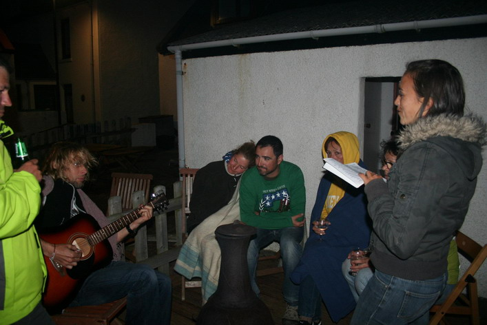 Songs around the chiminea!